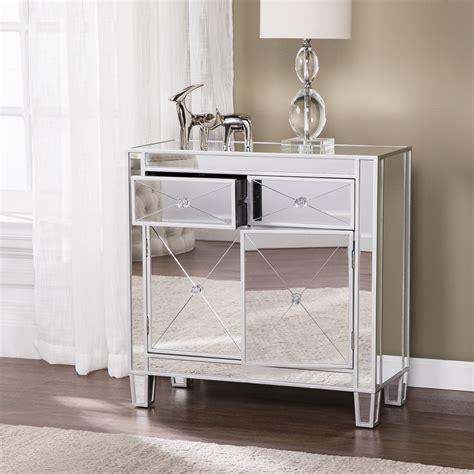 southern enterprises mirrored furniture southern enterprises oc9156 mirage mirrored accent cabinet