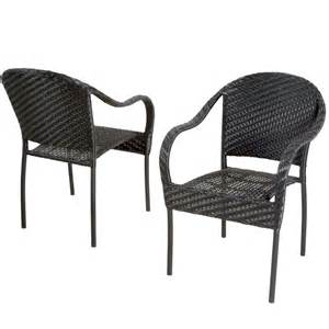 Outdoor Patio Chairs Outdoor Patio Furniture Black Pe Wicker Dining Chair Set
