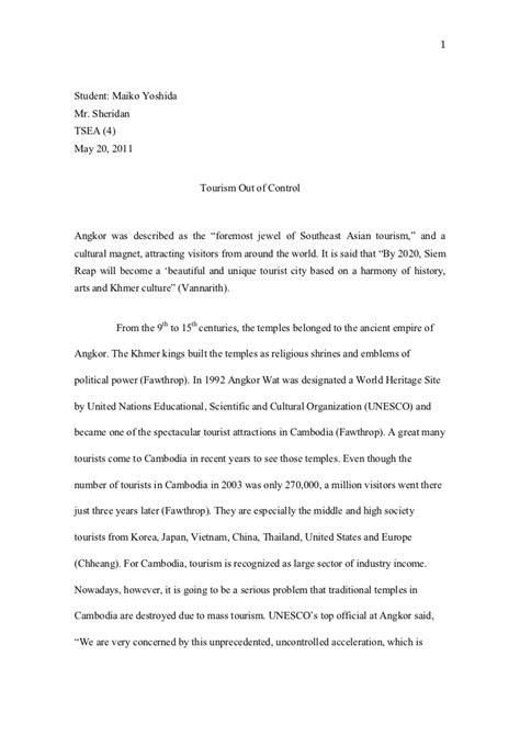Tourism Essay by Tourism Essay