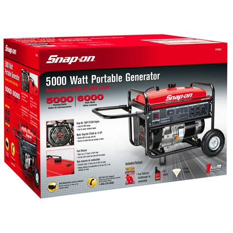 snap on 174 5000w 6000w portable gas power home emergency