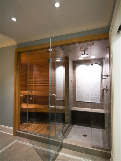 sauna bathroom ideas sauna with steam shower beautiful homes design