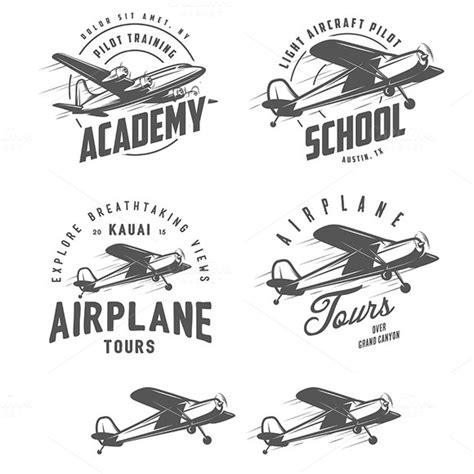 design elements plane light airplane design elements illustrations on creative