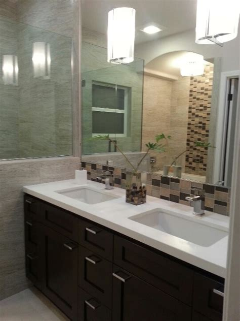 my bathroom remodel pony wall gray and taupe for the
