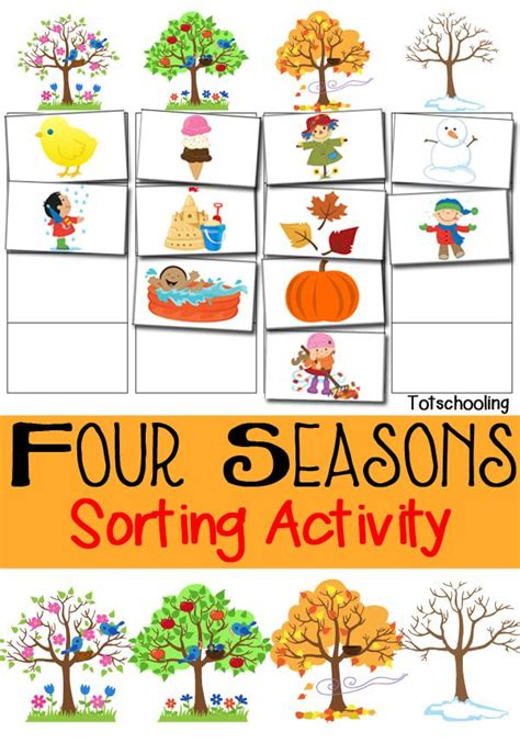 activity for best 25 seasons kindergarten ideas on