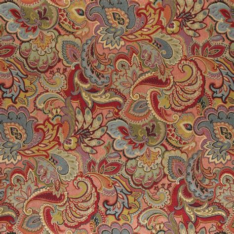 red gold upholstery fabric a0025b green blue red gold abstract floral upholstery