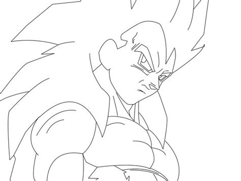 imagenes de goku ssj4 para dibujar vegeta ssj4 line art by gokusuke on deviantart