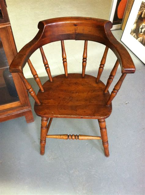 Wooden Captains Chairs by Vintage Wood Captain S Chair