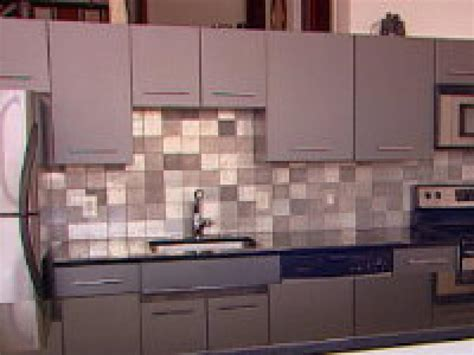 Aluminum Backsplash Kitchen | how to creating an eco friendly metal backsplash hgtv
