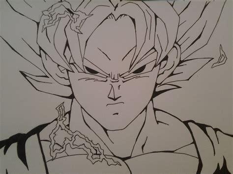 Drawing Goku by How To Draw Goku Ssj2