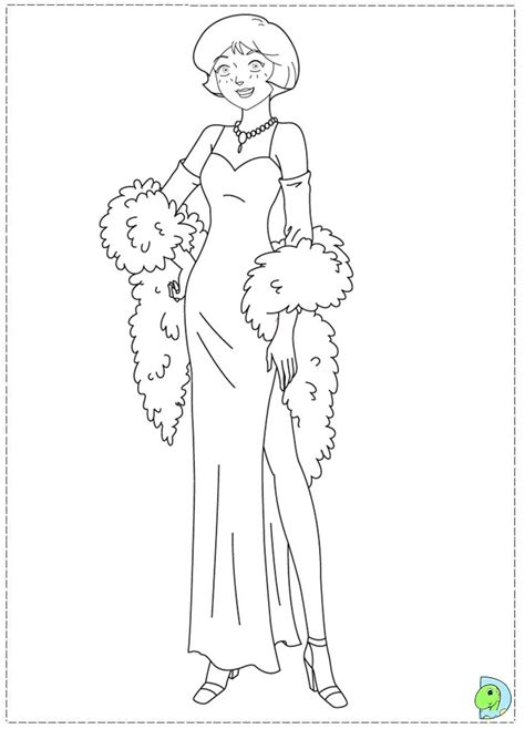 spy coloring pages to download and print for free totally spies coloring page dinokids org