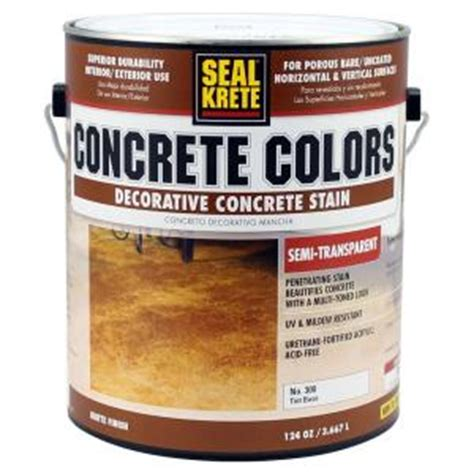 seal krete concrete colors 1 gal semi transparent tint base stain discontinued 300001 the