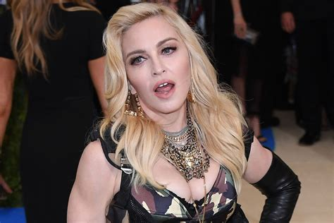 Madonna Is by Madonna S 4 Year Poses With F K Cocaine Pillow