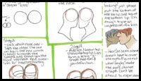 tutorial of kiss how to draw kissing people and animals with easy step by