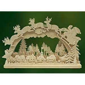 santa and reindeer german electric christmas arch german