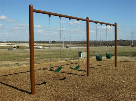 single post swing single post 2 bay swing commercial playground equipment