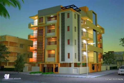 design of apartment buildings in india beautiful front elevation house design by ashwin architects