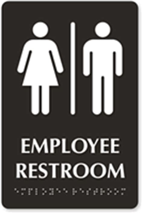 employee bathroom employee restroom braille sign with graphic sku se 5317