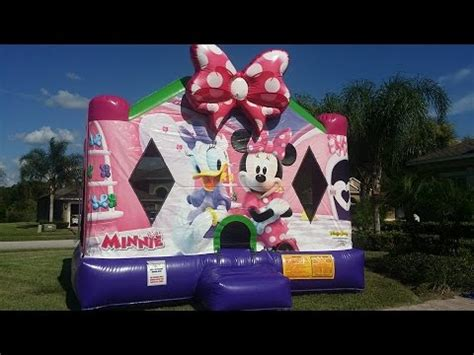 Minnie Mouse Bounce House by Disney Minnie Mouse Bounce House Rental Ta Land O Lakes