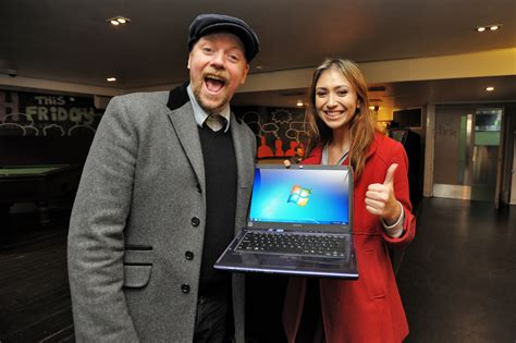 Laptop Giveaway - rufus hound gives away shiny new laptops to the people of bristol mummy alarm