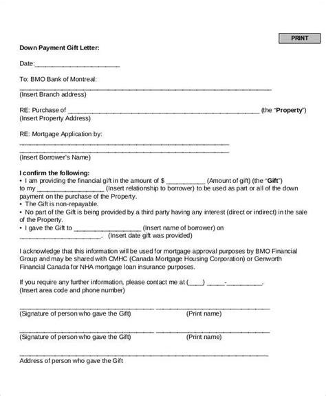 Loan Gift Letter Template fha gift letter letter of recommendation