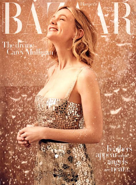 Harpers Bazaar Its Here 3 by Carey Mulligan Covers The January Issue Of S Bazaar