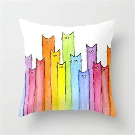 apliques que significa estos gatitos en acuarela ideas pintura en tela