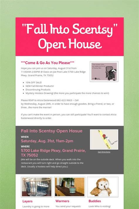 Mba Open House Tips by 61 Best Images About Scentsy Home On