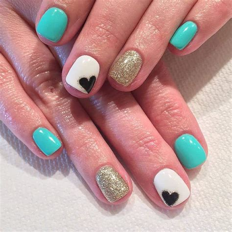 teal gel nail designs nail design with teal nail art how to teal chevron nails