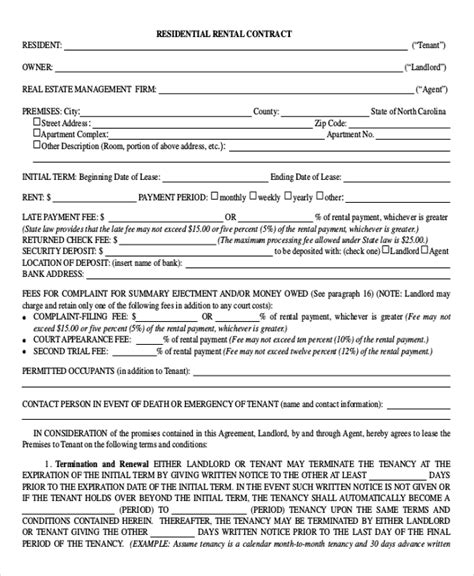 lease agreement template pdf housing agreement template emsec info