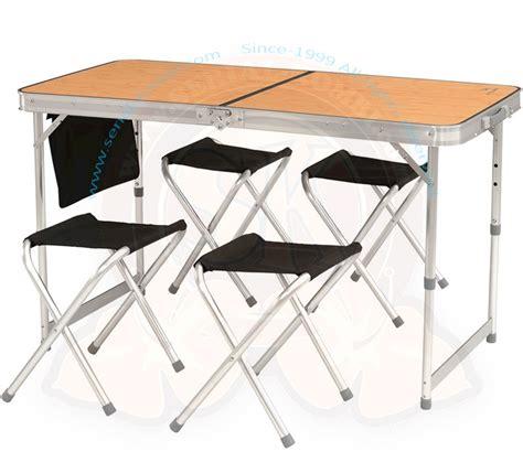 table valise pliante table pliante valise quot belfort avec 4 tabourets 120x60cm