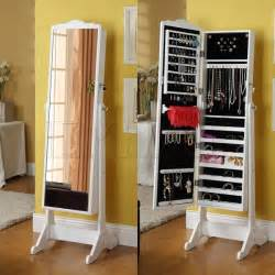 Mirror With Jewelry Cabinet Stylish Collection Jewelry Armoire Cheval Mirror Alldaychic