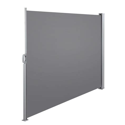 side awning retractable side awning patio cover grey 1 8m high x 3 0m wide