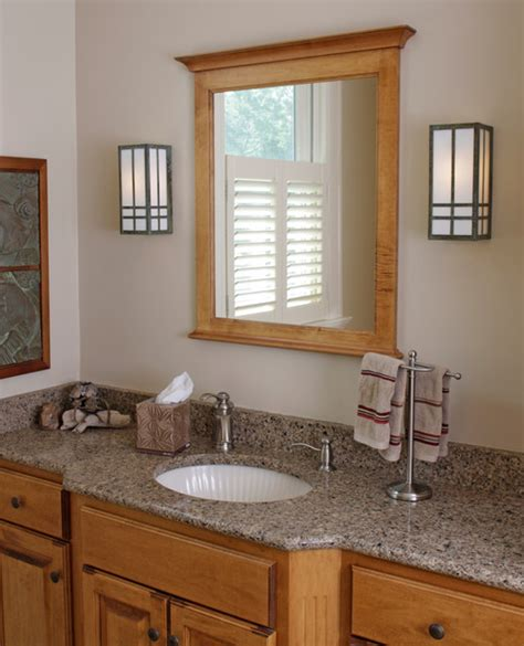 prairie style bathroom lighting craftsman bathroom