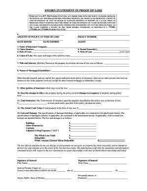Blank Sworn Statement Sworn Statement Template 12 Download Free Documents In Pdf Sworn Proof Of Loss Template