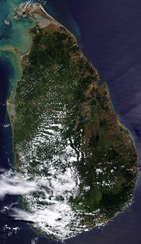 sri lanka satellite map large satellite map of sri lanka sri lanka asia