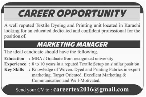 Marketing Manager Mba by Mba Business Administration Unite Pakistan The Youth