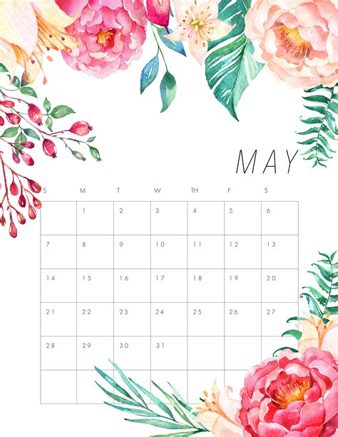 printable monthly calendar 2018 pinterest thecottagemarket com 2017calendars tcm 2017 5 may jpg