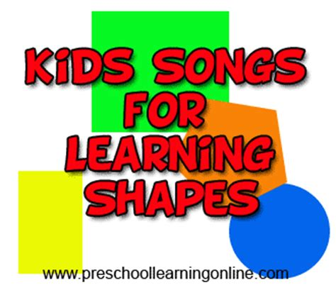 song pre k shapes songs for preschool learning
