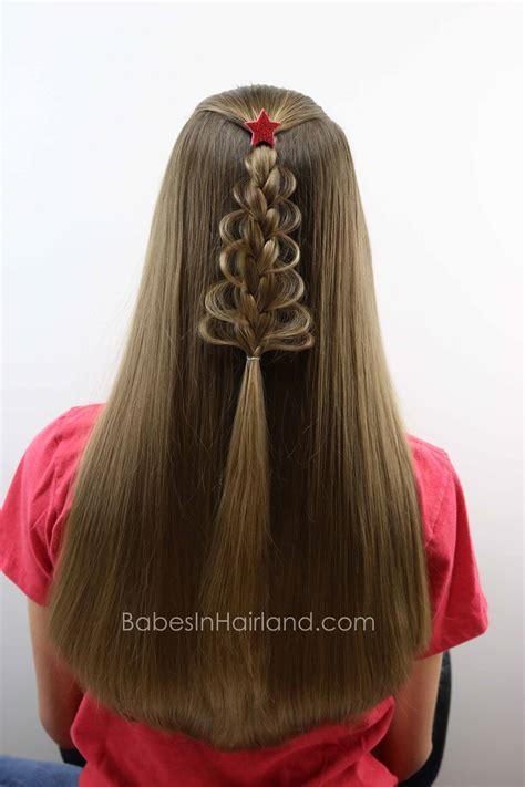 christmas tree hairstyle for girls tree loop braid in hairland