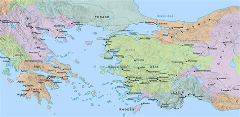 world map of ancient cities ג ר ו תו ש ב biblical in turkey and greece in