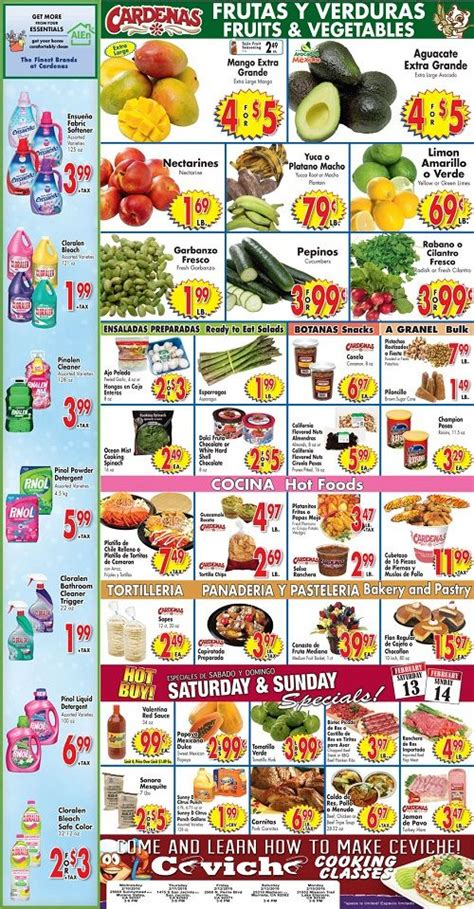cardenas market food menu 17 best images about shopping weekly ads on pinterest