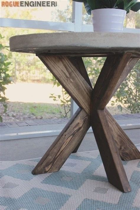 concrete  brace side table     side table