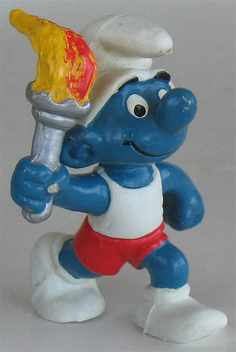 Smurf Olympic other collectable toys olympic torch smurf 1978 smurfs smurf vintage collectable