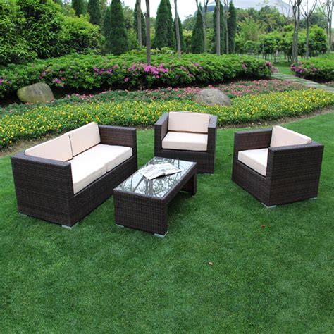 Backyard Patio Furniture Clearance Richmond Garden 2016 Clearance Rattan Furniture Verano Cannes 4 Mocha Brown Rattan Patio