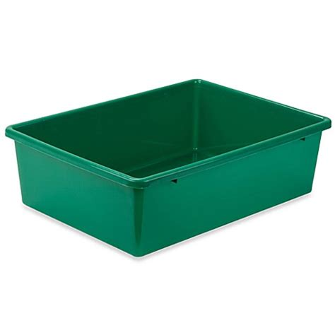 bed bath and beyond storage bins buy honey can do 174 large plastic storage bin in green from