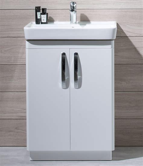 Freestanding Bathroom Furniture Uk Tavistock Compass 600mm White Gloss Freestanding Unit And Basin Cm600fw Cm600c