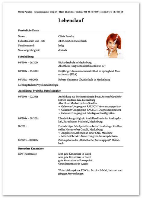 Handgeschriebener Lebenslauf Ausbildung Muster Der Perfekte Lebenslauf Lebenslauf