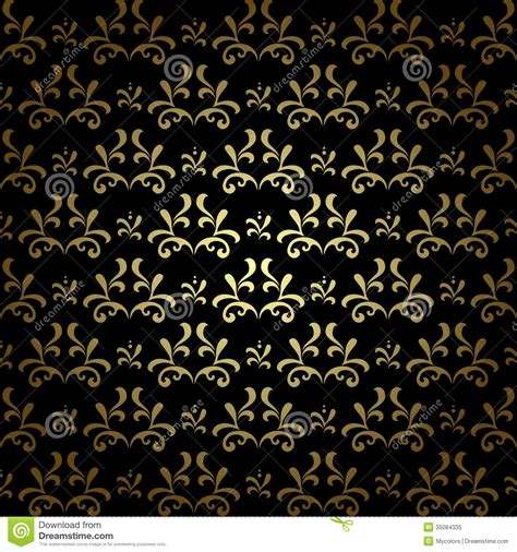 pattern black gold black and gold vector seamless pattern vintage royalty