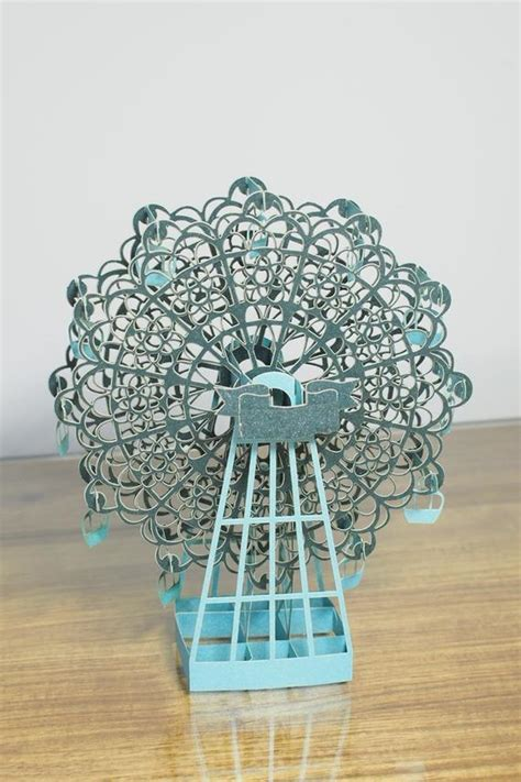 Items Similar To 3d Paper Art Ferris Wheel On Etsy Ferris Wheel Template Paper