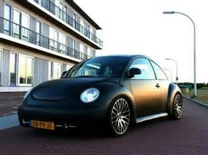 new beetle matte black lowered cars
